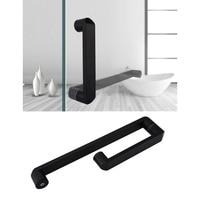 304# Stainless Steel Round Square Glass Door Pull Handle Commercial Shower box Matt Black