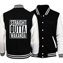 fall winter casual fleece sweatshirts Men 2018 new marvel baseball jackets Black Panther male fitness coats harajuku tracksuits