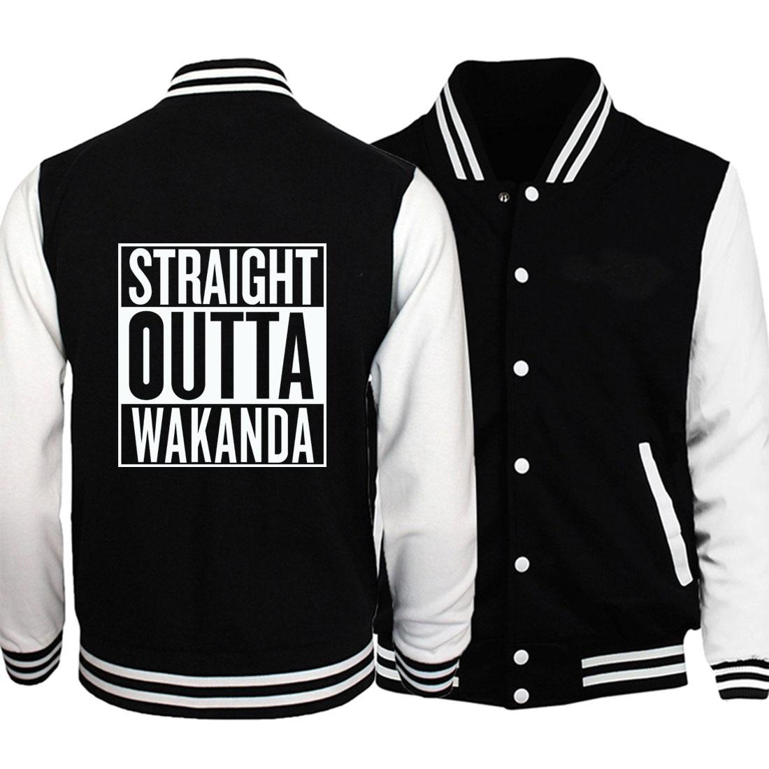 fall winter casual fleece sweatshirts Men 2019 new marvel baseball jackets Black Panther male fitness coats harajuku tracksuits