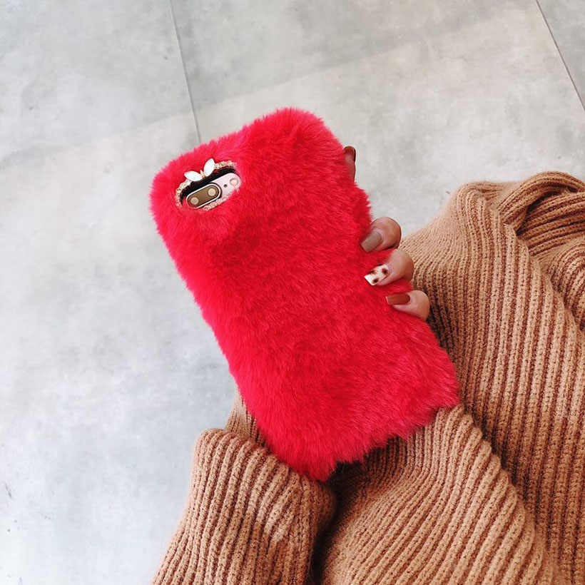 f55047cc2d Colorful Warm Fur Cases For Samsung Galaxy A70 A50 A30 A20 A10 M20 M10 M30  S10E S10 Plus Cover Warm Housing