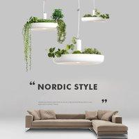 Nordic Plant Pendant Lights DIY Sky garden Led Lamp Flower Pot Hanging Lamp Dining Room Restaurant Lighting Fixtures Home Decor