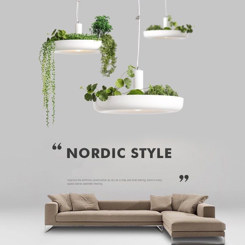 Nordic Plant Pendant Lights DIY Sky Garden Led Lamp Flower Pot Hanging Lamp Dining Room Restaurant Lighting Fixtures Home Decor