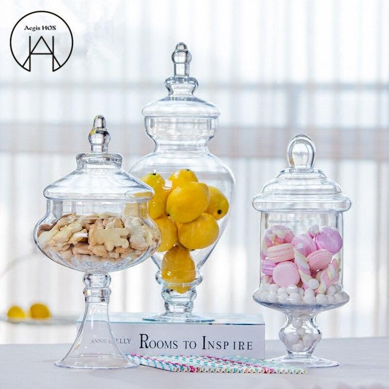 large european transparent candy jar glass with lid storage bottle wedding decoration decoration. Black Bedroom Furniture Sets. Home Design Ideas