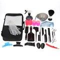 Pro Hair Salon Baber Hairdressing Brush Comb Clip Roller Spray Scissor Shaver Apron Gloves Equipment Storage Bag Tool Kit Set
