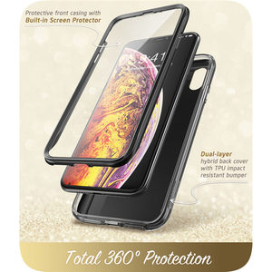Image 2 - Iphone Xs 最大ケース i ブレゾンコスモシリーズ全身シャイニングブリンブリングリッター羽バンパーケースと内蔵スクリーンプロテクター