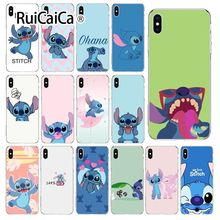 Ruicaica cartoon Stitch  Transparent Soft Silicone Phone Cover for Apple iPhone 8 7 6 6S Plus X XS MAX 5 5S SE XR Mobile Cases