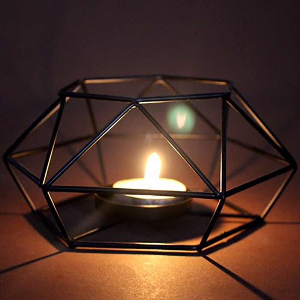 3D небольшой Tealight сталь минималистичный дизайн интерьера дома украшения геометрический подсвечник металлический настенный подсвечник бра соответствующие