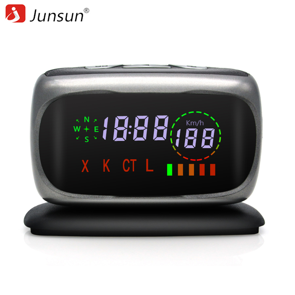 Junsun Car Radar Detector Anti Radar  X/K/CT/L 360 Degree Auto Detectors Radar Laser detector Voice Strelka for Russia купить