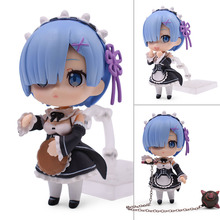 Re:Life In A Different World From Zero Rem Ram Nendoroid Action Figure PVC Toys Collection Model Doll For Friends Gifts 9.5cm 10cm q version anime re life in a different world from zero nendoroid 715 figure emilia pvc action figure collection model toy