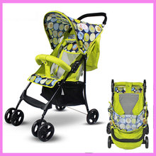 Wholesale Super Lightweight Folding Umbrella Baby Stroller Travel Car Portable Four-wheel Buggies Baby Cart Pram Bottom Basket