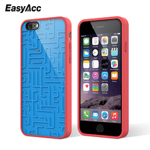 3D Intellectual Phone Case For iPhone 6 Creative Relax Funny Silicone maze Map Cartoon Matte Relief Cute Mermaid