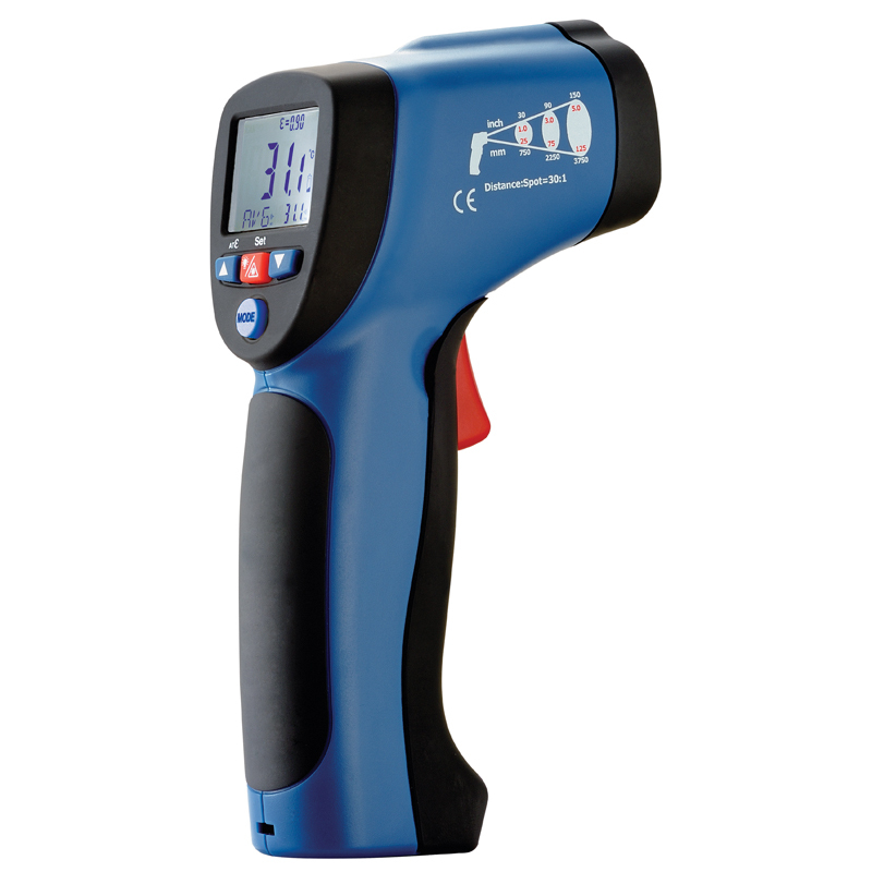 Infrared thermometer outdoor thermometer  With the toolkit  laser thermometer DT-8835 infrared thermometer price with respond time least 150ms