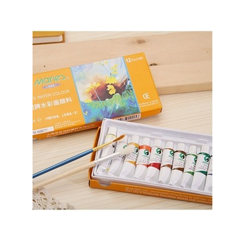Marie's Watercolor Paint 24 Color 5ml Portable Painting Safe Non-toxic Washable 36 Color Beginner Art Supplies