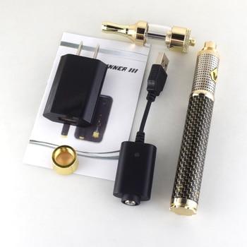 2pc Vision III kits Electronic cigarette Double Coil 1.6ml atomizer 1600mAh fiber vision 3 battery 510 wire vaporizer pen steam