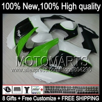 HOT Fairing Body For KAWASAKI NINJA ZX6R 07 08 ZX 6R Green Black ZX636 10K9 ZX