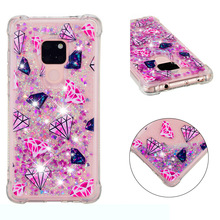Fashionable cartoon painting is suitable for Huawei Mate 20 dynamic quicksand anti - falling mobile phone shell