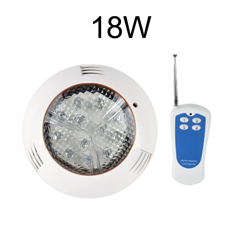 36W 12W 18W 27W 54W RGB Swimming Pool Light IP68 12V AC 24V Piscina Underwater Fountain Lamp Wall Surface Mounted Free Shipping underwater lights rgb led swimming pool light 24v ip68 waterproof 27w 316 stainless steel colorful changeable fountain lamp