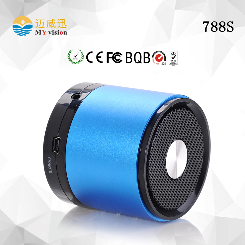 788S Best Corporate Gifts My vision Blue Round Manual for Bluetooth Speaker Ptable Speaker Laptop Speaker