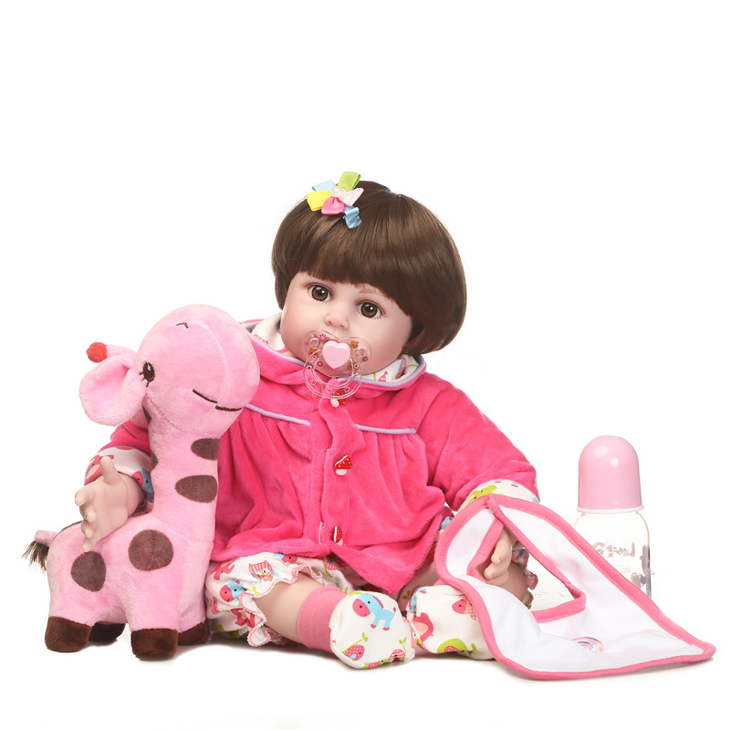 55cm Silicone Reborn Baby Doll Toys 22 Newborn Girls Brinquedos Birthday Gift Vinyl Princess Dolls Toy With Luxury Accessories55cm Silicone Reborn Baby Doll Toys 22 Newborn Girls Brinquedos Birthday Gift Vinyl Princess Dolls Toy With Luxury Accessories