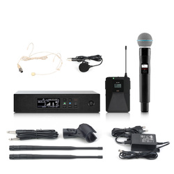 Professional wireless microphone UHF outdoor stage singer performance high fidelity wireless microphone