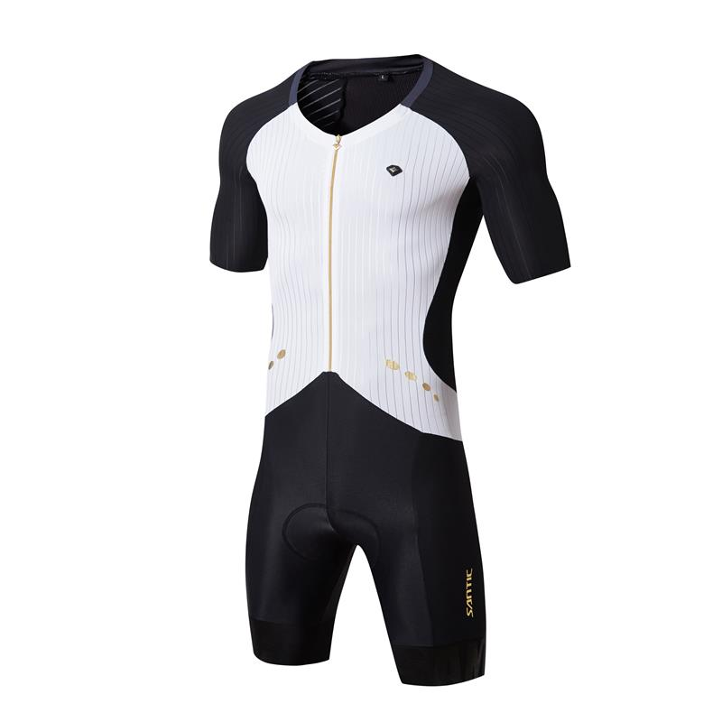 Sant мужские веломайки наборы Pro Team Триатлон кусок Экстремальная гонка Fit A BLEES эластичная сухая крутая итальянская ткань велосипедная одежда