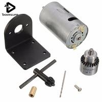 Newest 1pc 12 24V Mini Hand Drill DIY Lathe Press 555 Motor Drill Chuck Mounting Bracket