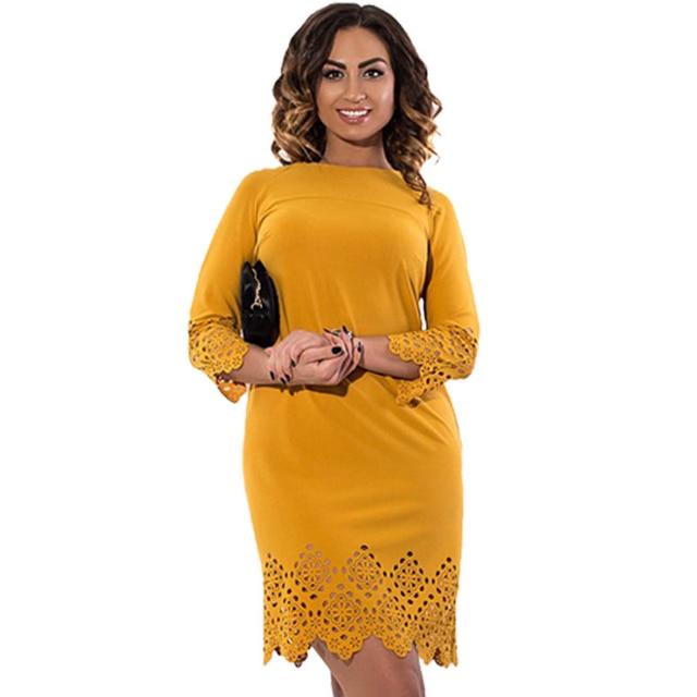 Plus Size Dress 3xl 4xl 5xl 6xl Women Sexy Smocked Hollow Out Wavy