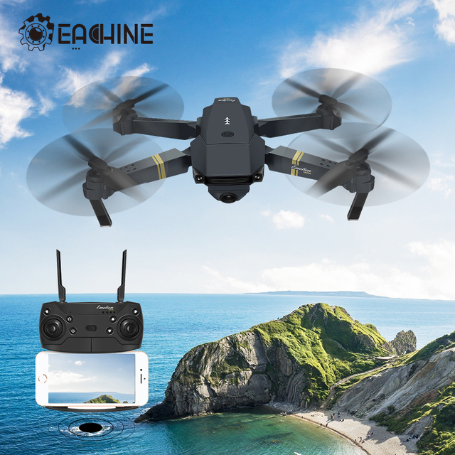 Eachine E58 WIFI FPV With True 720P/1080P Wide Angle HD Camera High Hold Mode Foldable Arm RC Drone Quadcopter RTF VS S9HW M69 Games