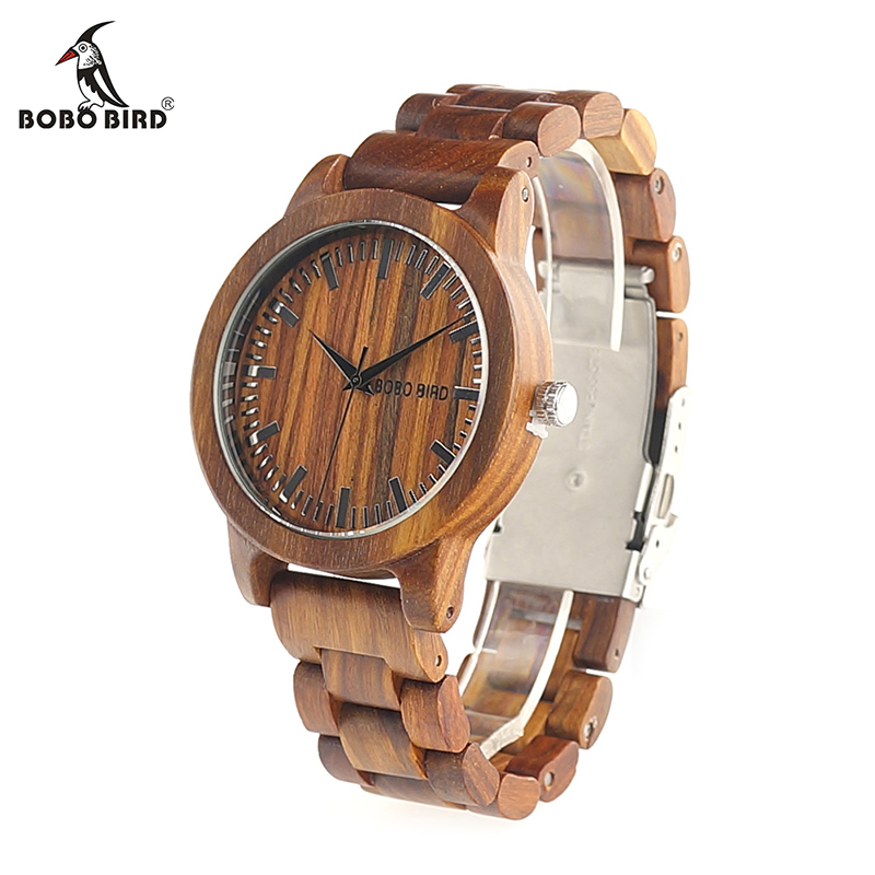 BOBO BIRD V-M10 New Arrival Mens Watch Ebony Wood Dial All Wood Quartz Wristwatch in Gift Box reloj hombre 2017 bobo bird f08 mens ebony wood watch japan movement 2035 quartz wristwatch with leather strap in gift box free shipping