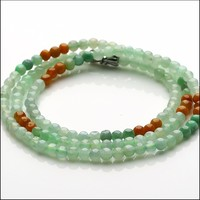 Hot sale 20 Inch Length 100% A Grade Natural /Jadeite Colourful 4mm Beads Necklace