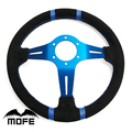 MOFE Racing SPECIAL OFFER  Blue Stitch Deep Corn / Dish: 90MM Suede 350mm steering-wheel