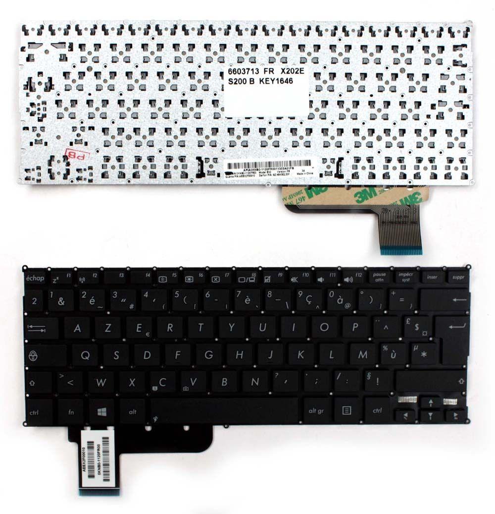 New Laptop keyboard for   Asus   Vivobook S200 Black Windows 8  French Layout new laptop keyboard for asus 0kn80 1120fr00 black windows 8 french layout