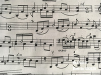 110*100センチ注音楽ピアノ楽譜綿生地布財布キルトベビー服/diy手作りクラフト寝具ホーム