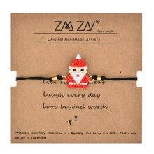 ZMZY Boho Cute Santa Claus Armband Handgemachte Miyuki Delica Perlen Armband Weihnachten Geschenke für Frauen/jungen/mädchen/ kinder Freundschaft