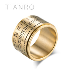 TIANRO AliExpress Explosion Jewelry Mens Rings Europe and America Creative Life Tree Retro Titanium Steel