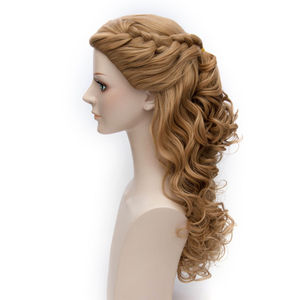 Image 2 - L email wig Brand Hot Sale Women Princess Cosplay Wigs Long Curly Braid Hair Heat Resistant Synthetic Hair Perucas Cosplay Wig