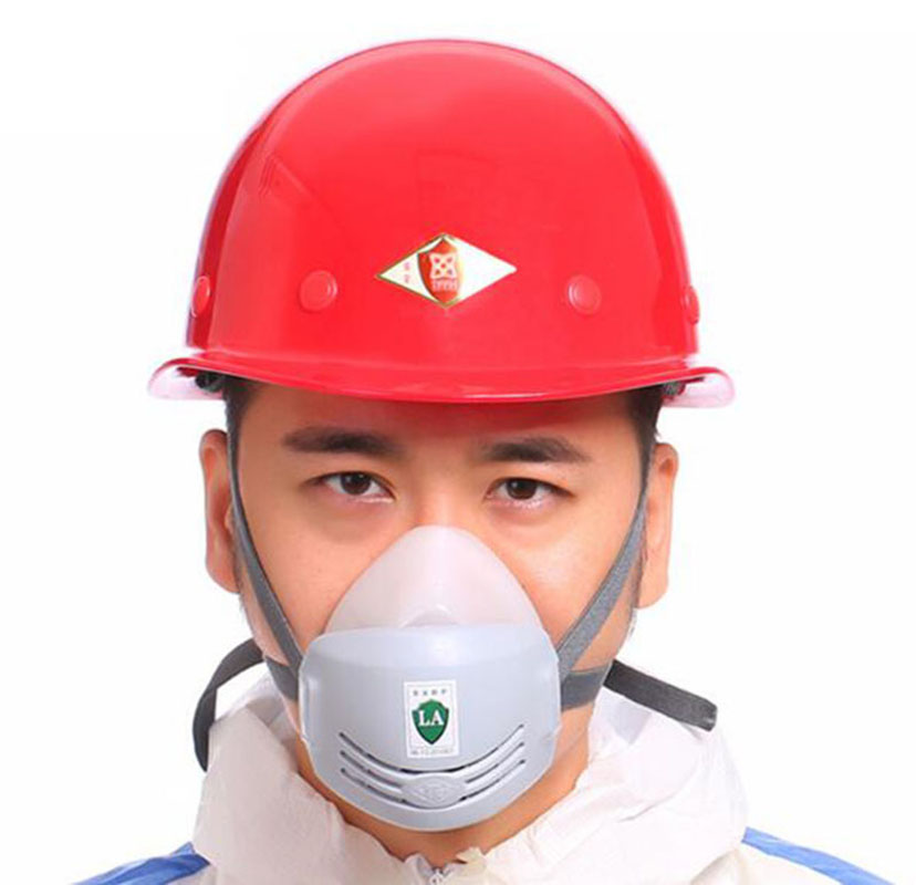 Gas Mask Industry Anti-Dust Pollution Respirator Welder Paint Spraying Polishing Respirator Safety Rubber Construction Dust Mask