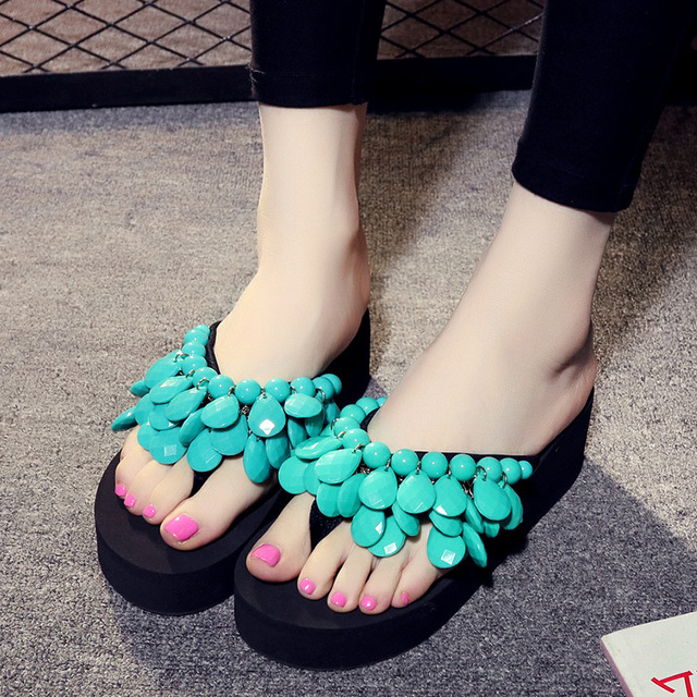 866f19c1958c Girls Slippers Princess Shoes Tassel Bohemia Summer Holiday Shoes Handmade  Beaded Slippers Big Girl Slippers Flip Flog EUR 33-41