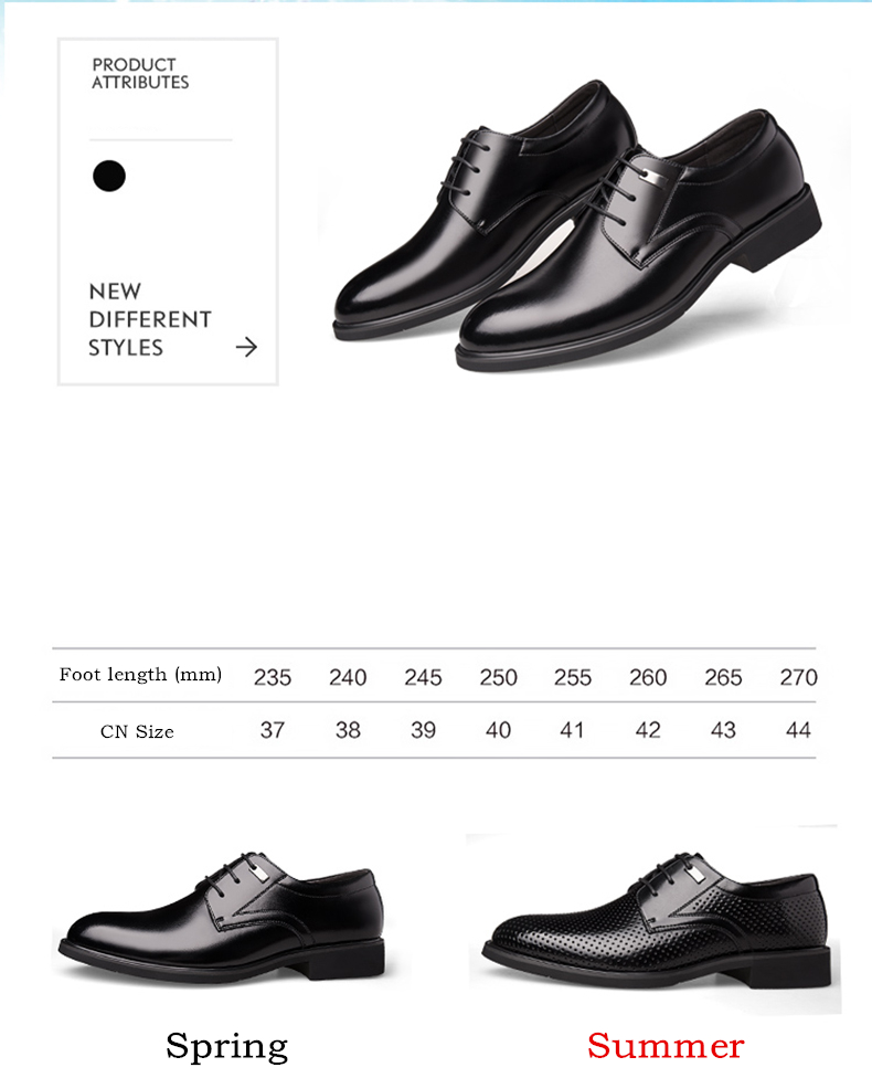 Misalwa Spring / Summer Hollow Classic Derby Men's Dress Shoes Breathable Bitty Oversized 47 48 49 Casual Business Suit Shoes