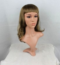 Realistic Plastic Female Mannequin Dummy Head With Hair, D2-IDA,T14