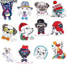 ZOTOONE Cartoon cute puppy letters stamping hot transfer pattern DIY clothing washable offset printing D