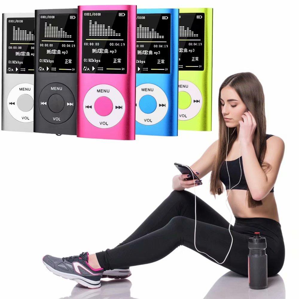 Lecteur MP3 HD classique prend en charge l'enregistrement FM e-book multi-langue multi-couleur lecteur vidéo portable MP4 en option