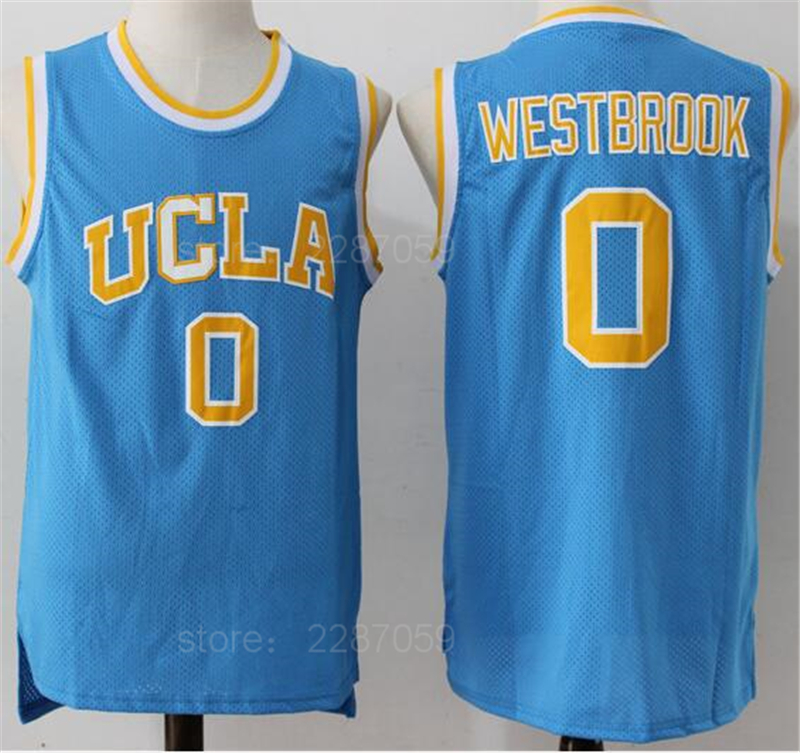 Ediwallen UCLA Bruins College 0 Russell Westbrook Jersey Men Blue White Team Stitched Westbrook Basketball Jerseys Good Quality ...