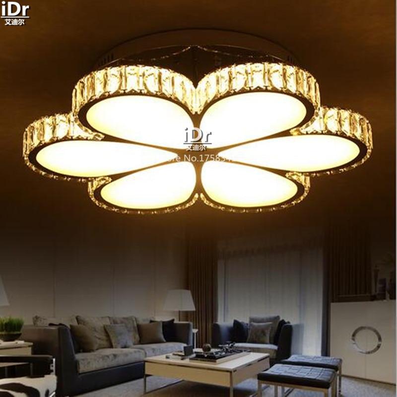 Neue Led Lampe Schlafzimmer Minimalistische Mode Kreative Blume Kristall Wohnzimmer Deckenleuchten Wwy 0098