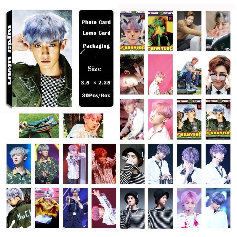 Yanzixg Kpop EXO Album Chanyeol Sendiri Dibuat Kertas LOMO Kartu Kartu Foto Poster HD Pas Foto