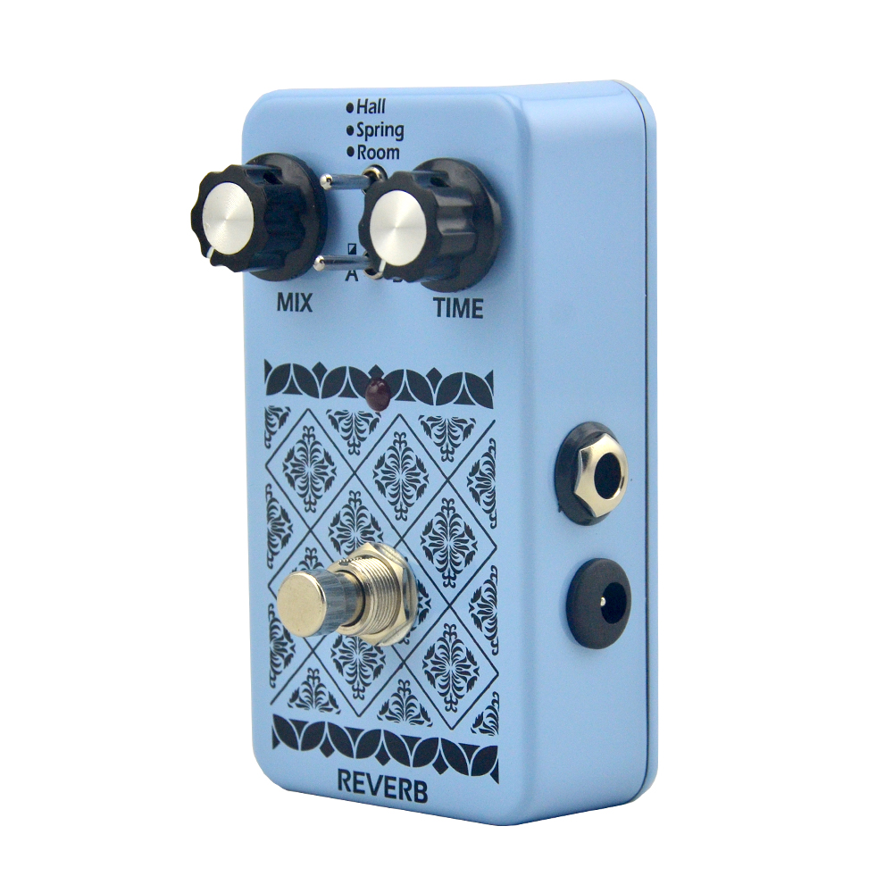 ФОТО Musical Instrument  Reverb effect pedal True Bypass Electric Guitar Pedal for Guitar Parts & Accessories reverb
