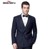Seven7 Марка Blazer Masculino Slim Fit пиджак мужчины заказ стильный смокинг мужские повседневные торжественные Свадебные Плюс Размер M-5XL