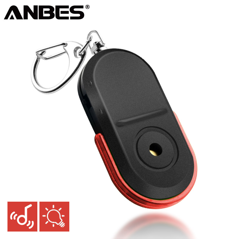ANBES Wireless Anti-Lost Alarm Key Finder Locator Keychain Whistle Sound LED Light Things Tracker