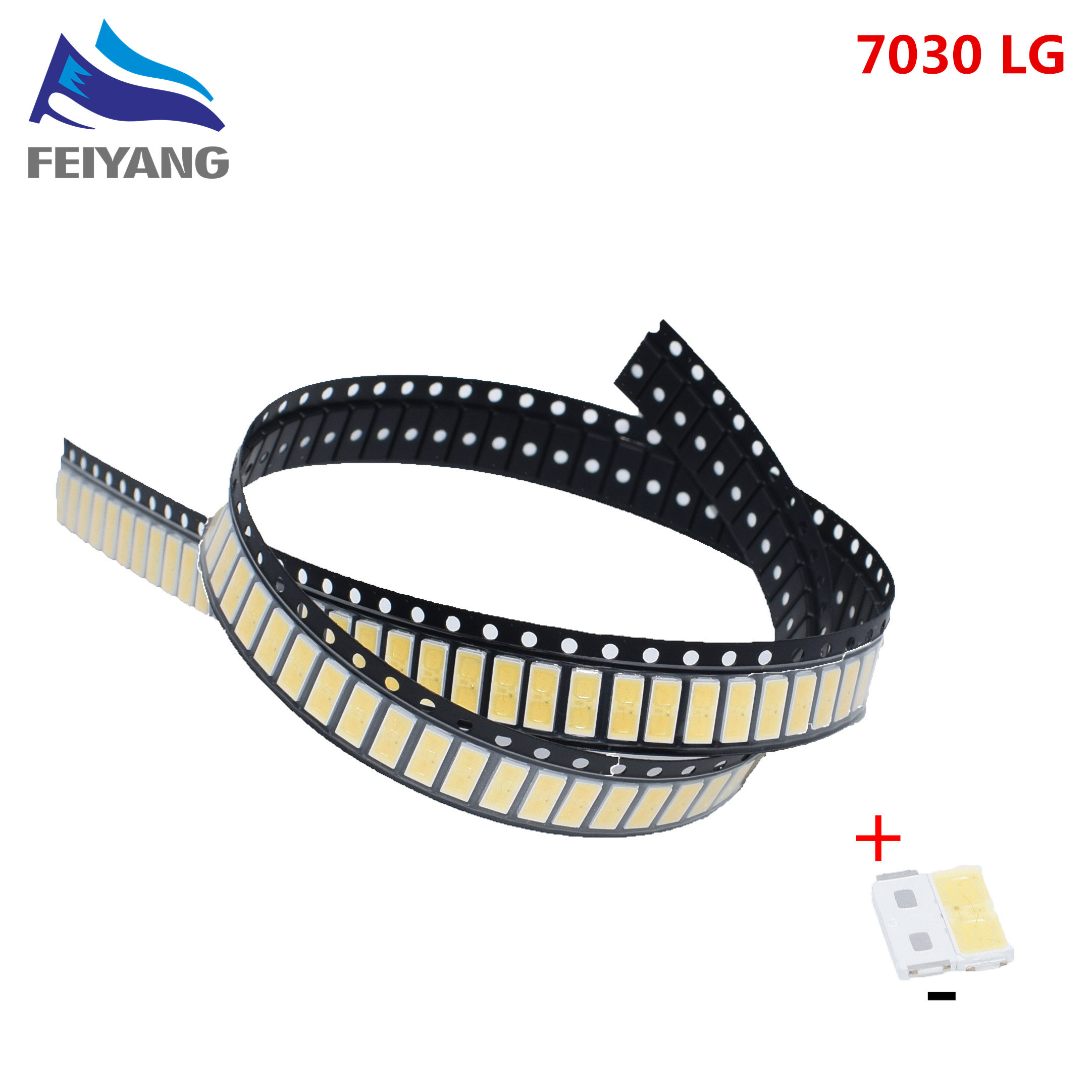 500pcs For <font><b>LG</b></font> Original <font><b>LED</b></font> LCD <font><b>TV</b></font> Backlight Application <font><b>LED</b></font> 7030 light-emitting Light Beads Cool white High Power <font><b>1W</b></font> <font><b>6V</b></font> image