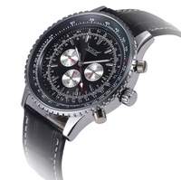 Chronograph 6 Hands 24 Hours Function Men Sport Watch Silicone Luxury Watch Men Top Brand Military